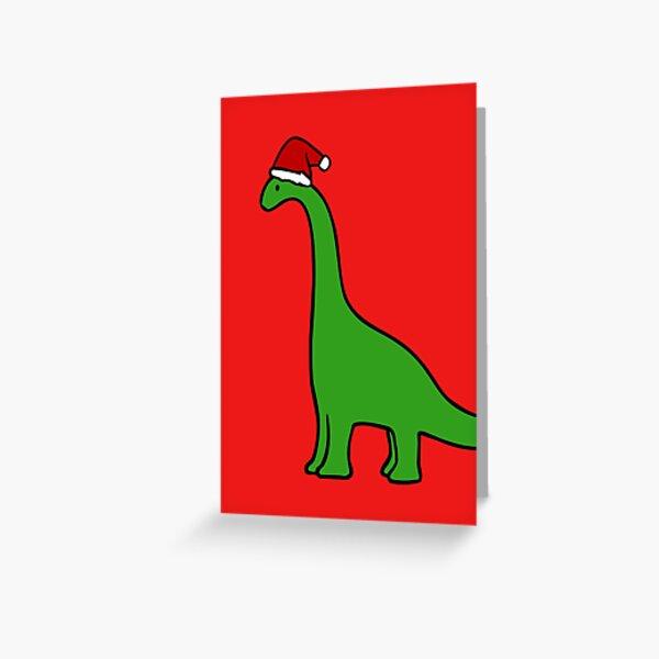 Christmas Brachiosaurus Greeting Card