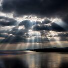 Sunbeams over Exmouth by Dave Hare