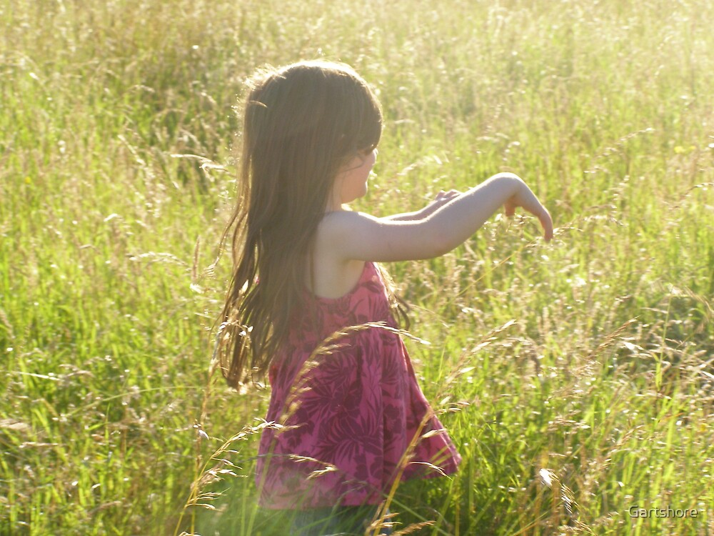 A walk in the grass by Gartshore