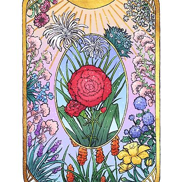 Tarot card style - Sun and Flowers by -Rale-