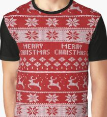 Knitted Christmas sweater pattern Graphic T-Shirt