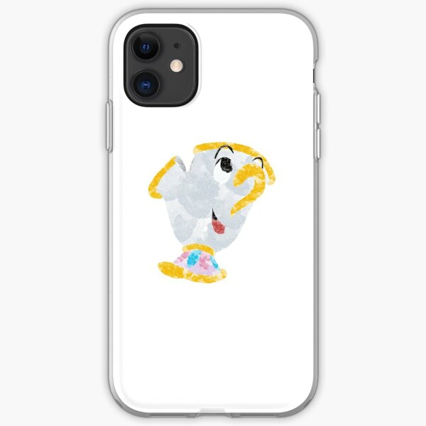 Beauty and The Beast Chip watercolour iPhone Soft Case