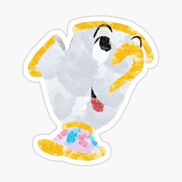 Beauty and The Beast Chip watercolour Sticker