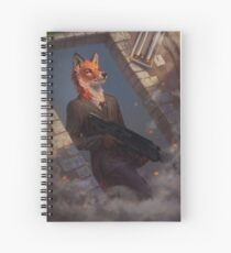 Fox agent Spiral Notebook