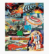Retro Future Past - Japanese Style - Collage Photographic Print