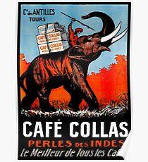 CAFE COLLAS: Vintage Kaffee 1927 Werbung Print Poster