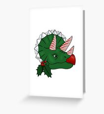 christmas triceratops  Greeting Card