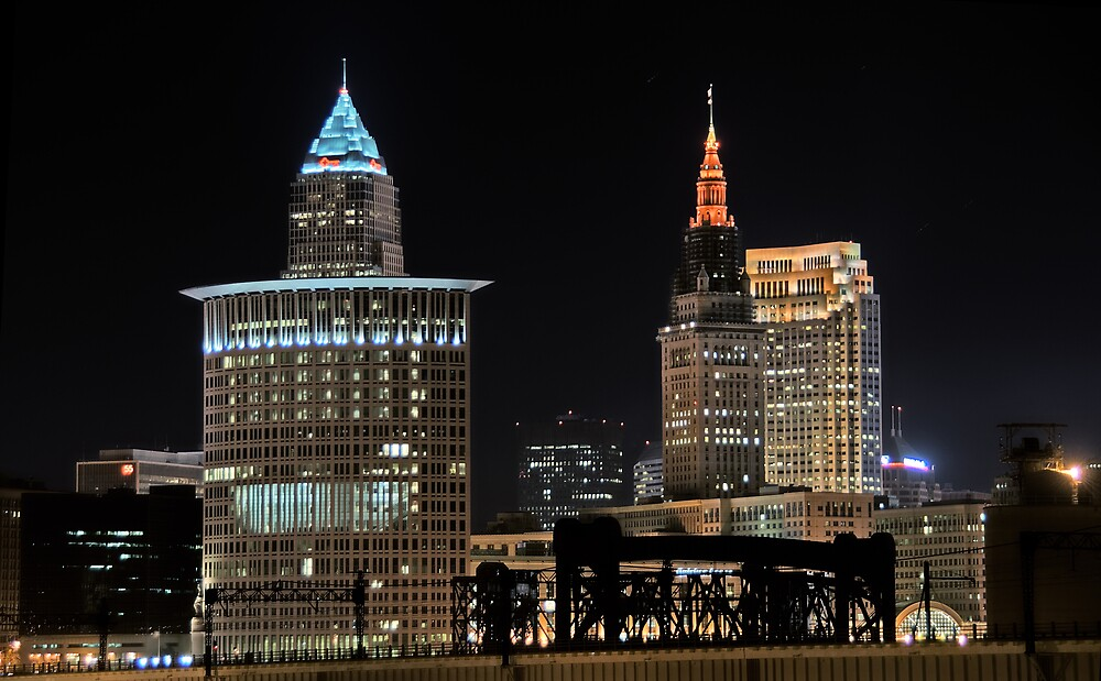 Cleveland Skyline by MClementReilly