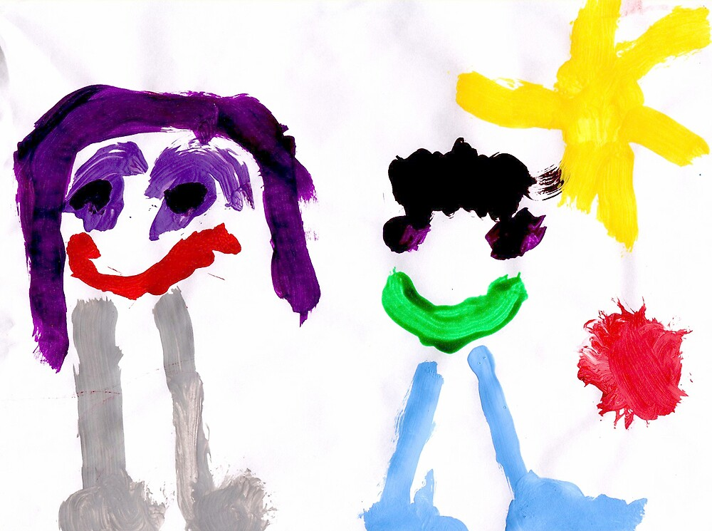 Toddlers self portrait (Me and My Cousin)  by tracer