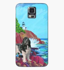 Landseer Newfoundland and Lighthouse Case/Skin for Samsung Galaxy