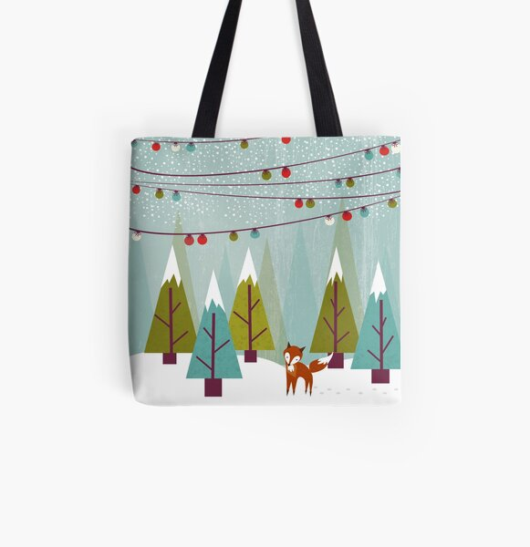 Winter All Over Print Tote Bag