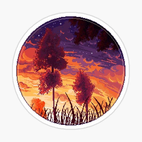 Sunset aesthetic Pegatina