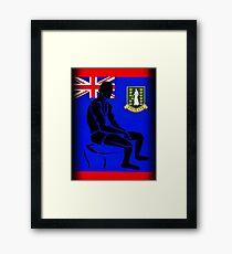 Custom Stencil Man (British Virgin Islands)  Framed Print