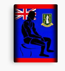 Custom Stencil Man (British Virgin Islands)  Canvas Print