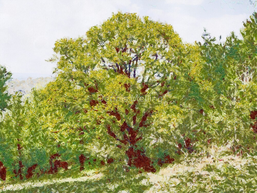A Tree in Romania in the style of Monet by Dennis Melling