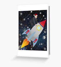 Christmas Rocket Kim Jong Un Greeting Card