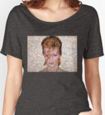David Bowie Mosaic Art Women's Relaxed Fit T-Shirt