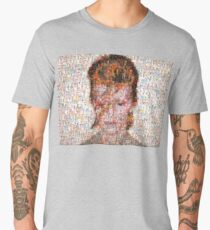 David Bowie Mosaic Art Men's Premium T-Shirt