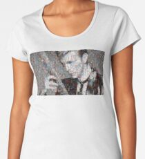 David Bowie Mosaic Art 2 Women's Premium T-Shirt