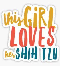 Shih Tzu love Sticker