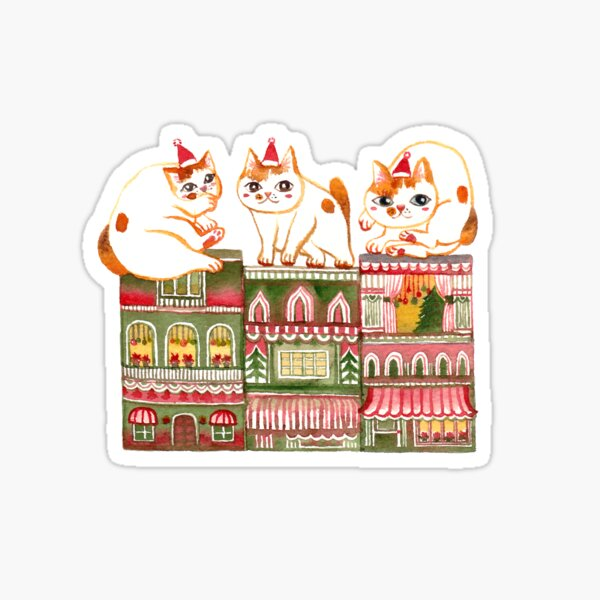 Catsmas Townhouse Sticker