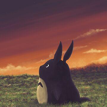 Cute Totoro anime by ibrahimGhd