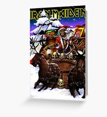 iron maiden christmas santa bongkok 2 Greeting Card