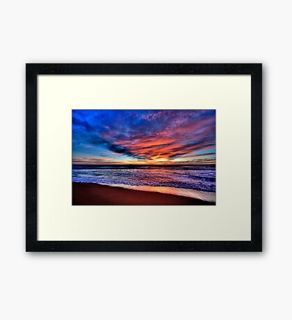Daybreak - Newport Beach , NSW - The HDR Experience Framed Print