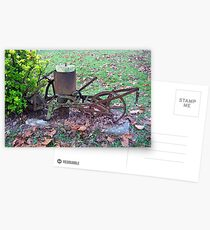 Antique Cultivator/Seed Spreader? Postcards