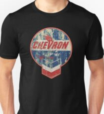 Vintage Chevron oil and gas sign Unisex T-Shirt