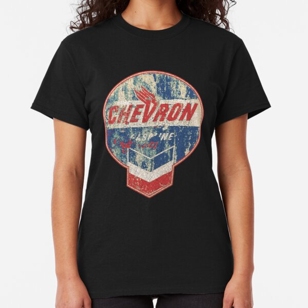 Vintage Chevron oil and gas sign Classic T-Shirt