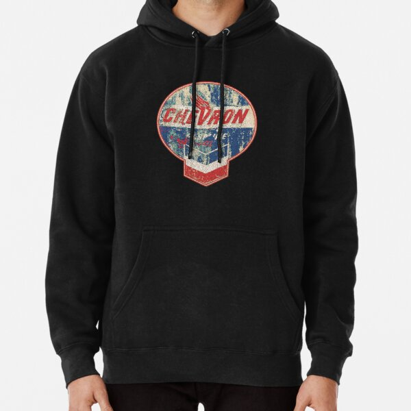 Vintage Chevron oil and gas sign Pullover Hoodie