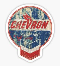 Vintage Chevron oil and gas sign Sticker