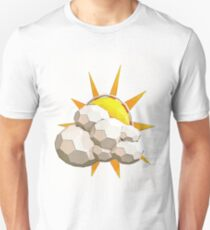 Cartoon Sun in Low Poly Style Unisex T-Shirt