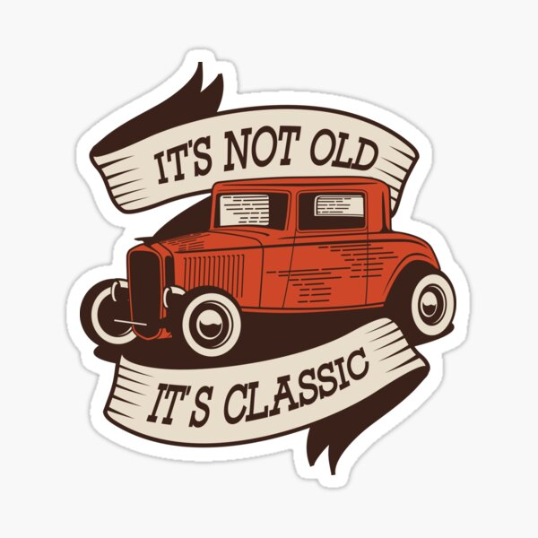 It's Classic Car Sticker