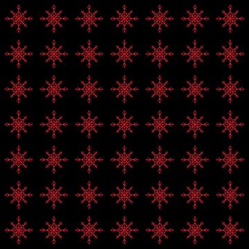 Christmas Pattern Series - Snowflake 2 Light Red by Ian2Danim