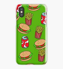Doodle Burgers Fries and Soda Junk Food iPhone Case