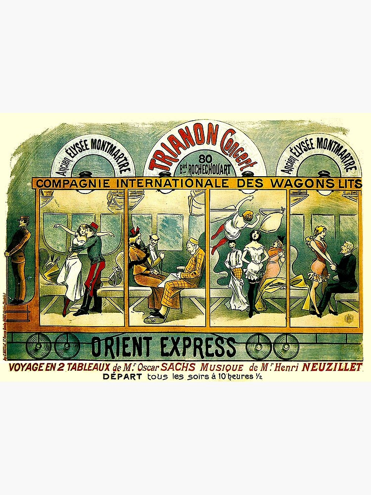 ORIENT EXPRESS : Vintage Railway Line Advertising Print by posterbobs