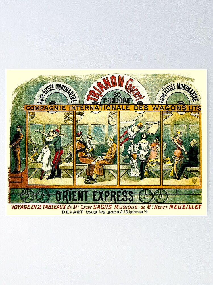 Alternate view of ORIENT EXPRESS : Vintage Railway Line Advertising Print Poster