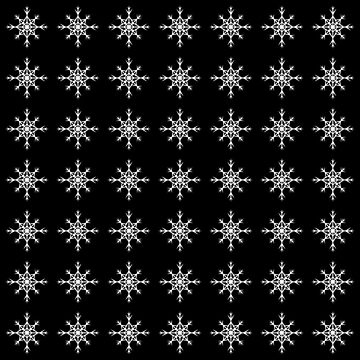 Christmas Pattern Series - Snowflake 2 White by Ian2Danim