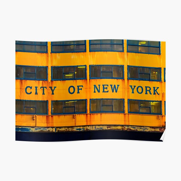City of New York (Ferry) Poster