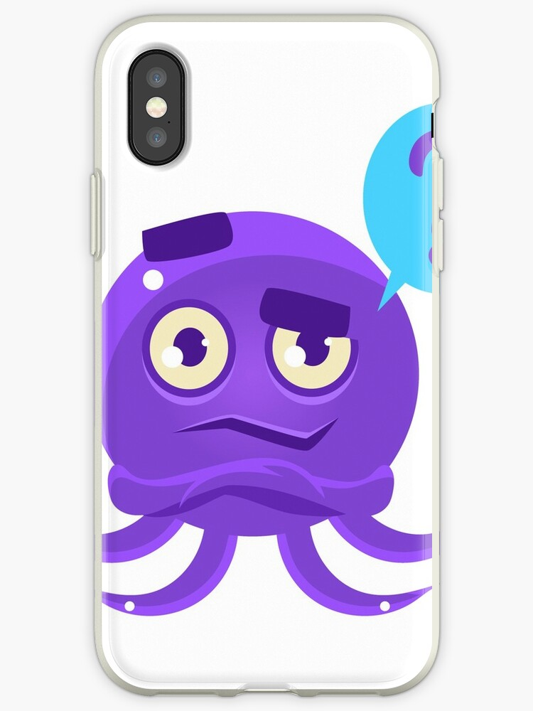 Funny Octopus Raising Eyebrow Emoji Iphone Cases Covers By