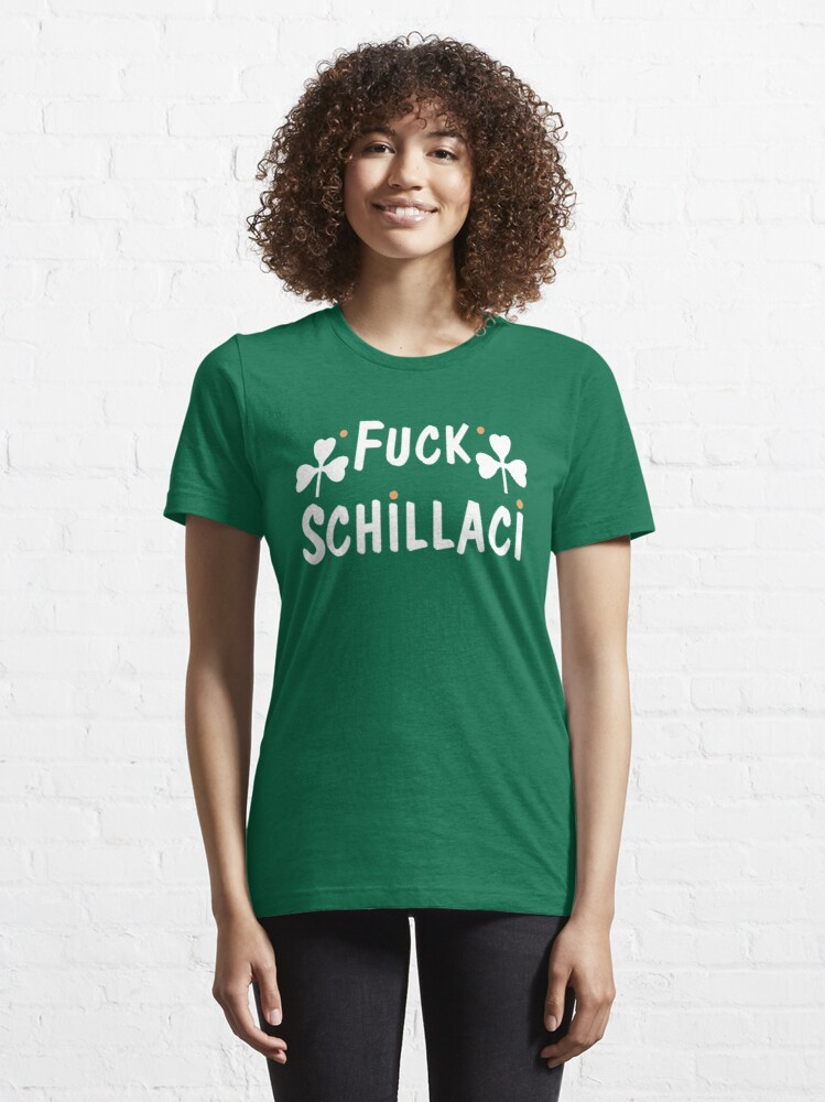 Alternate view of F*** Schillaci (Green) Essential T-Shirt