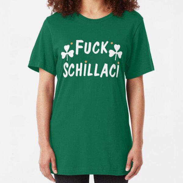 F*** Schillaci (Green) Slim Fit T-Shirt