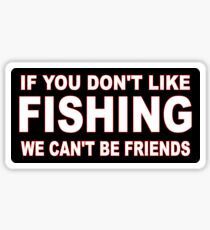 dontlikefishing Sticker