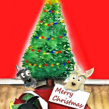 Scottie Dogs Christmas by archyscottie