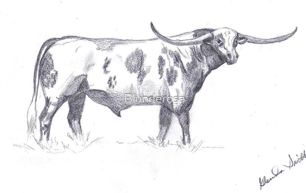 Longhorn Bull by Blunderosa