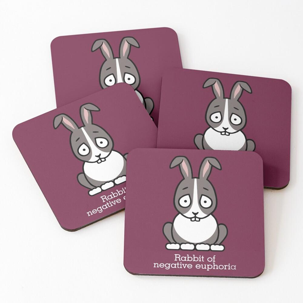 Rabbit of Negative Euphoria Coasters (Set of 4)