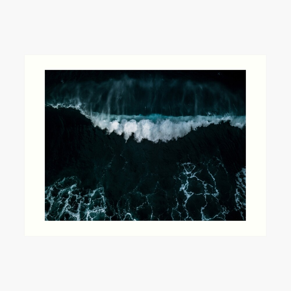 Welle in Bewegung - Ozean Fotografie Kunstdruck