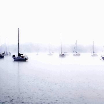 sailboats in the fog by smconnard
